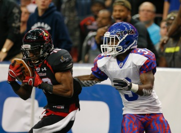 TAMPA, FL - APRIL 1: Tampa Bay Storm play the Orlando Predators during their Arena Football Game at the Amalie Arena on April 1, 2016 in Tampa, Florida. (Photo by Scott Audette/Tampa Bay Storm)